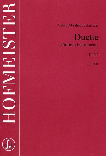 Duette fur tiefe Instrumente, Heft 2