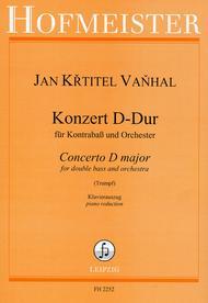 Konzert fur Kontrabass und Orchester D-Dur / KlA