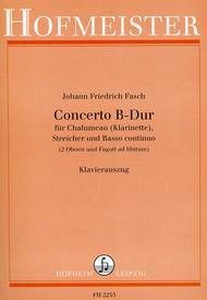 Concerto B-Dur fur Chalumeau (Klarinette), Streicher und Basso continuo (2 Oboen und Fagott ad libitum)/ KlA