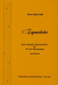 5 Zigeunerlieder (Alt od. Mezzosopran)