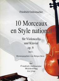 10 Morceaux en Style national, op. 9, Teil 1