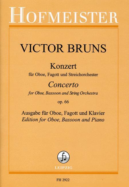 Konzert, op. 66 fur Oboe, Fagott und Streichorchester / KlA