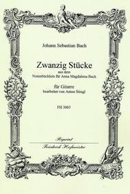 20 leichte Stucke aus dem Notenbuch fur Anna Magdalena Bach
