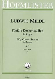 50 Konzertstudien, op. 26, Heft 2