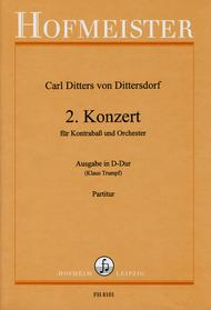2. Konzert D-Dur fur Kontrabass und Orchester / Partitur