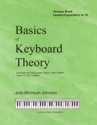 Basics of Keyboard Theory: Answer Book (for Preparatory - Level X)