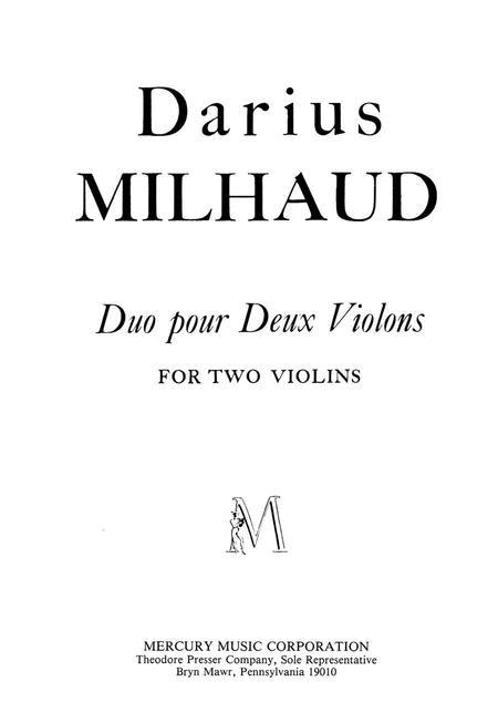 Duo Pour Deux Violons