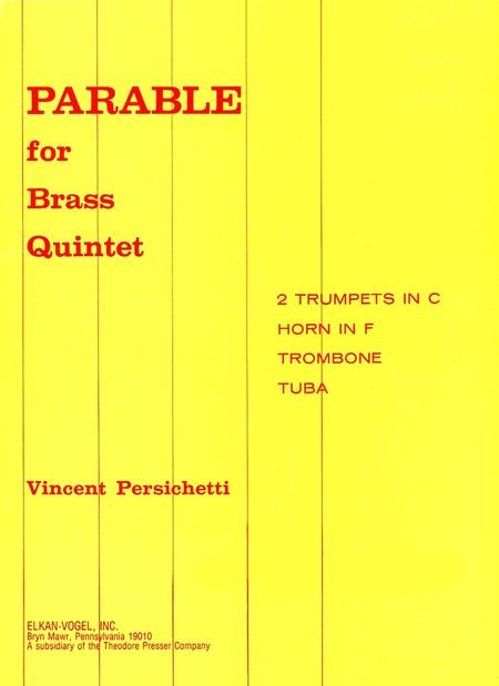 PARABLE FOR BRASS QUINTET Sheet Music By Vincent Persichetti