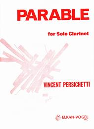 PARABLE FOR SOLO CLARINET Sheet Music By Vincent Persichetti