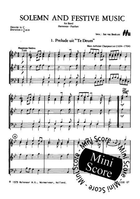 Preview Solemn And Festive Music By Jan Van Beekum (ML