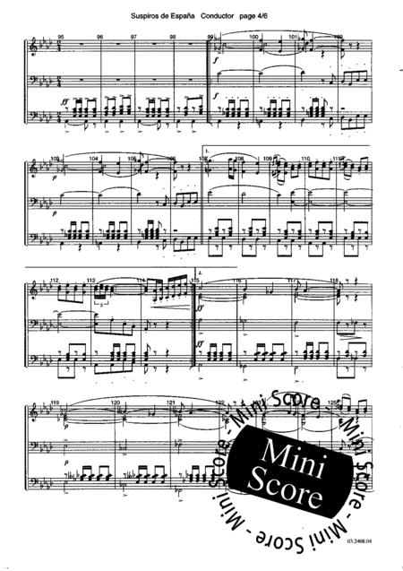 Suspiros De Espana By Antonio Alvarez Full Set Sheet Music For Fanfare Band Buy Print Music Ml 022508040 Sheet Music Plus