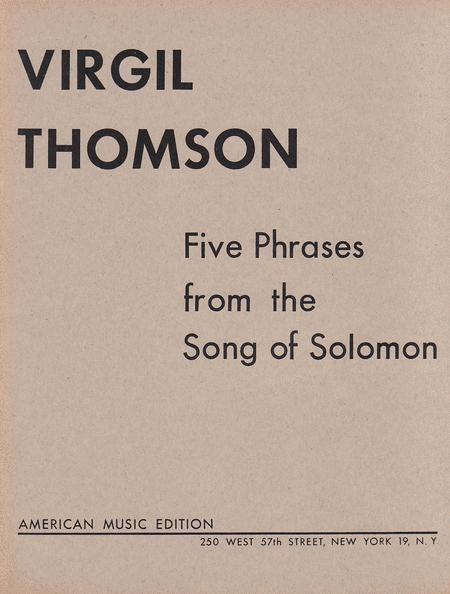 Five Phrases From the Song of Solomon