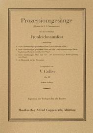Goller, Prozessionsgesange