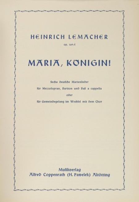 Sechs deutsche Marienlieder