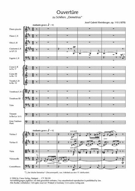 Overture to Schiller's Demetrius