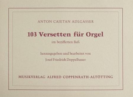 103 Versetten fur Orgel