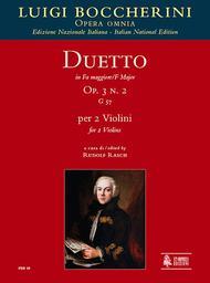 Duetto Op. 3 No. 2 (G 57) in F Major
