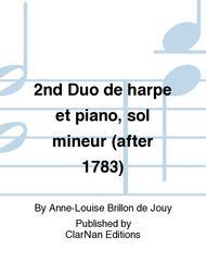 2nd Duo de harpe et piano, sol mineur (after 1783)