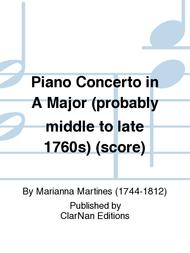 Piano Concerto in A Major (probably middle to late 1760s) (score)