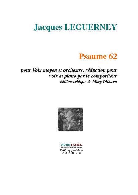 Psaume 62 pour Voix et Orchestre