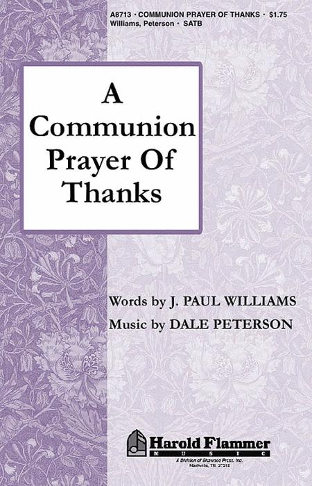 A Communion Prayer of Thanks
