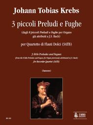 3 little Preludes and Fugues (from the 8 little Preludes and Fugues for Organ previously attributed to J.S. Bach)