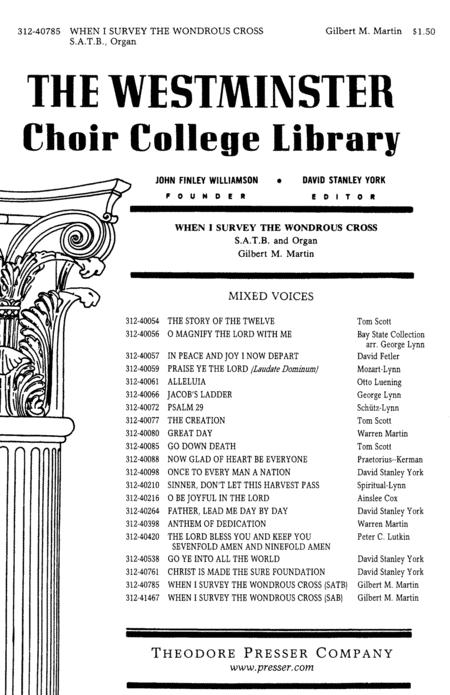 verse choir piece list
