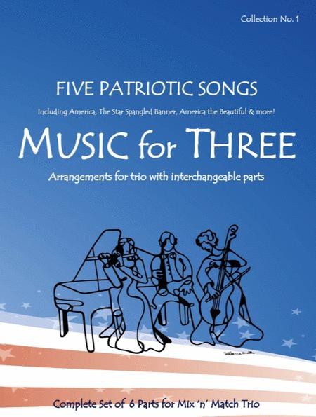Music for Three, Collection #1 - Patriotic (Set Includes 7 Parts)