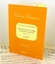 Chansons russes variees for two violins. Opus 2