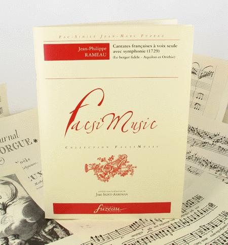 French cantatas for solo voice with symphonie - 1729