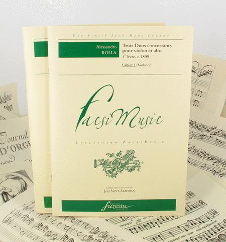 Three duos concertants for violin et viola - Book 4