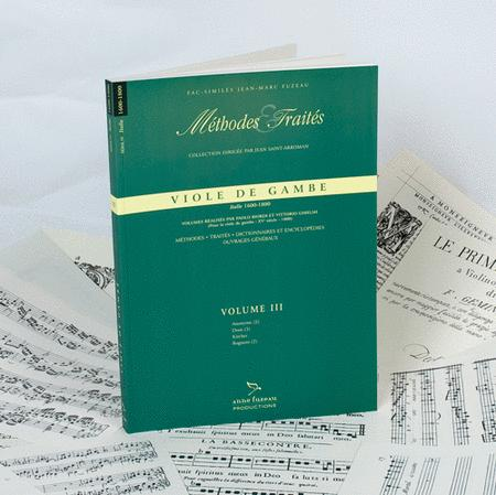 Methods & Treatises Viola da gamba - Volume 3 - Italy 1600-1800