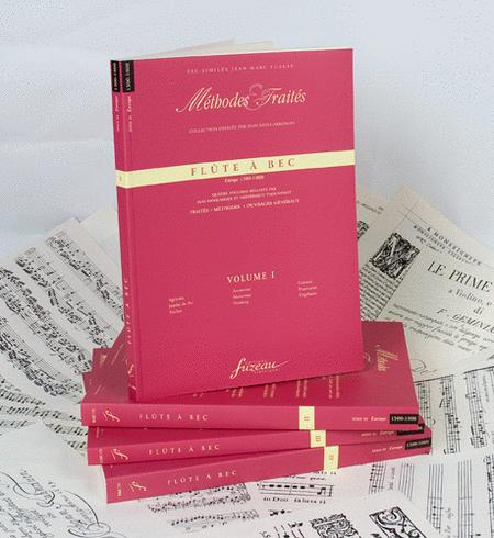 Methods & Treatises Recorder - 4 Volumes - Europe