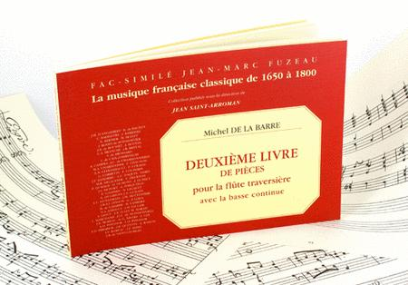 Second book of pieces for flute and continuo bass