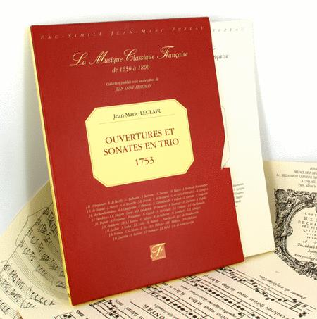 Overtures and trio sonatas for two violins with continuo bass