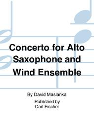 Concerto for Alto Saxophone and Wind Ensemble