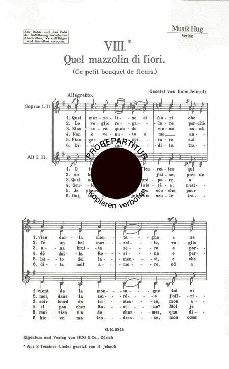 Quel Mazzo Di Fiori.Preview Quel Mazzolin Di Fiori Hg Gh 5845 Sheet Music Plus