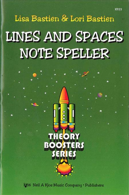 Bastien Theory Boosters: Lines and Spaces Note Speller