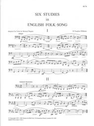 Six Studies in English Folk Song for Tuba