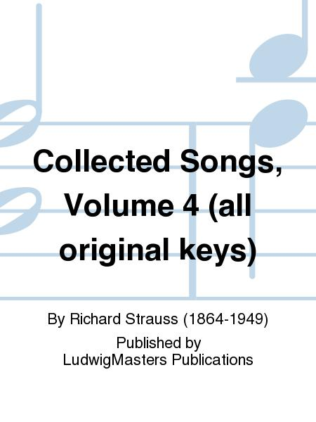 Collected Songs, Volume 4 (all original keys)