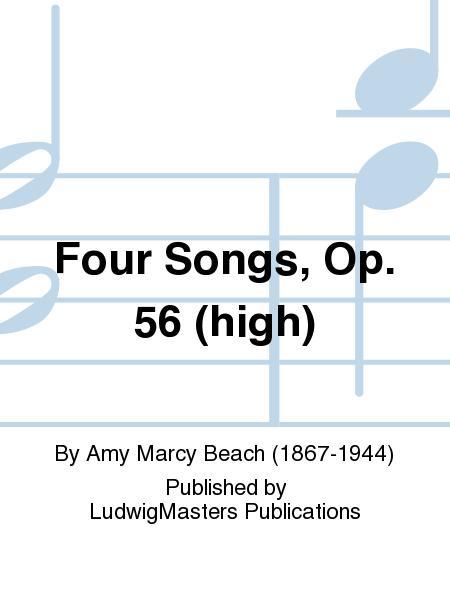 Four Songs, Op. 56 (high)