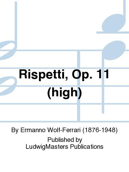 Rispetti, Op. 11 (high)