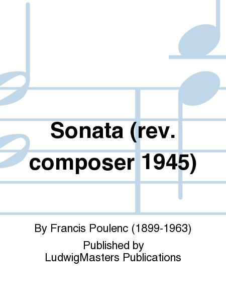Sonata (rev. composer 1945)