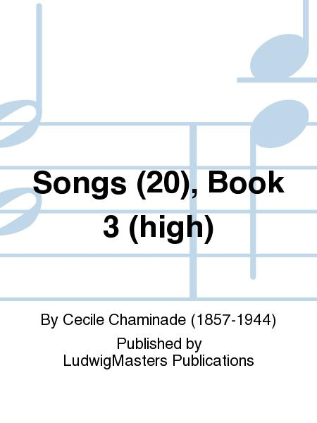 Songs (20), Book 3 (high)