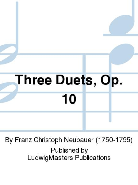 Three Duets, Op. 10