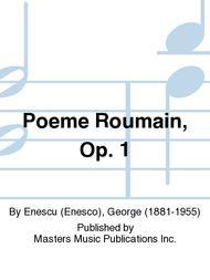 Poeme Roumain, Op  1 Sheet Music By Enescu (Enesco), George