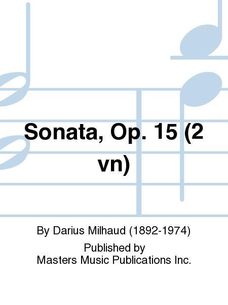 Sonata, Op. 15 (2 vn)