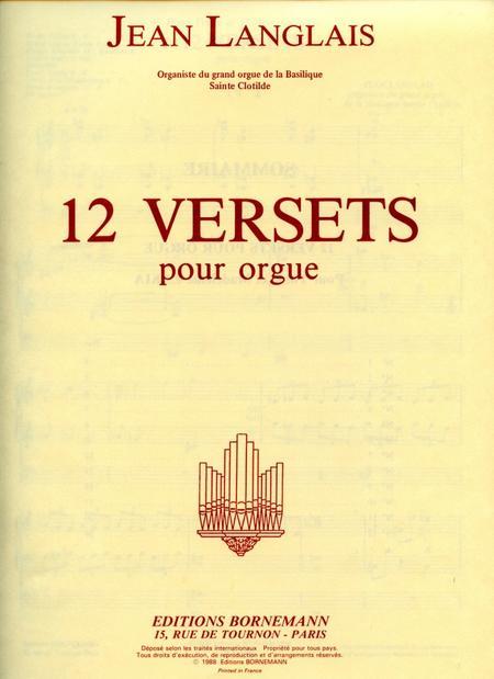 12 Versets - Orgue
