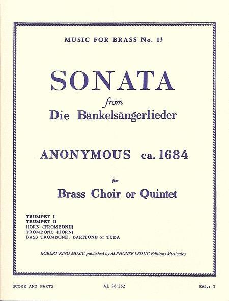 Sonata (Bankelsangerlieder) - Brass Quintet