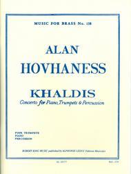 Khaldis Op91 - Piano/4 Tpts/Percu